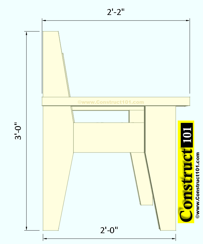 outdoor chair plans side view
