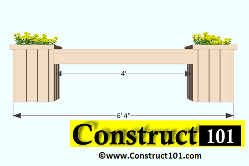 2x4 planter box plans front view