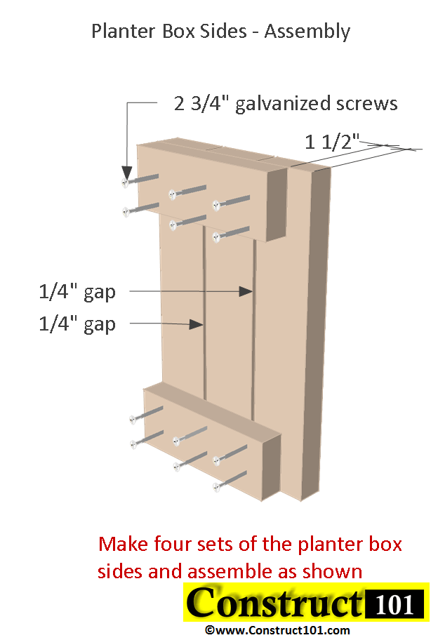2x4 planter box plans box assembly