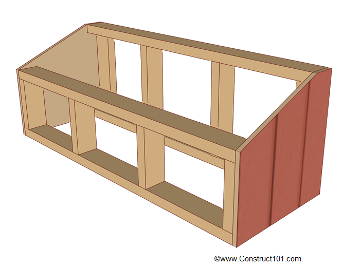 chicken coop nest box plans side siding installed