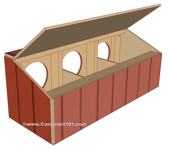 chicken coop nest box plans back view
