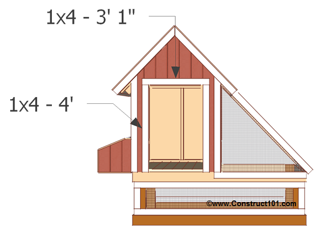 chicken coop plans design 1 front door opening trim