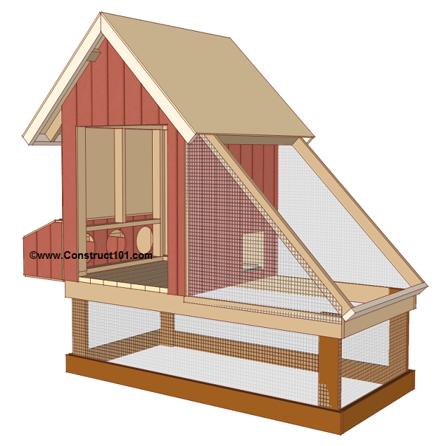 chicken coop plans design 1 wire mesh