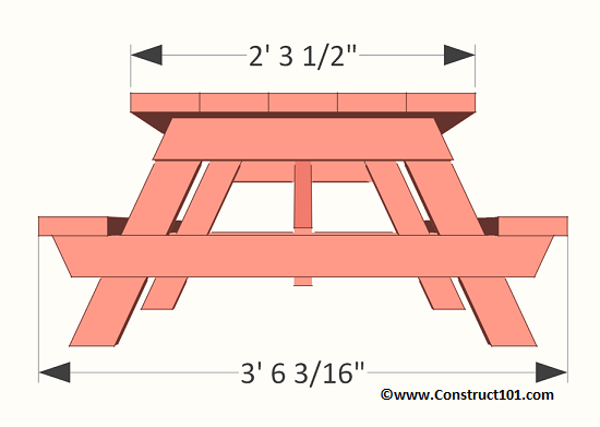 Children S Picnic Table Plans Construct101