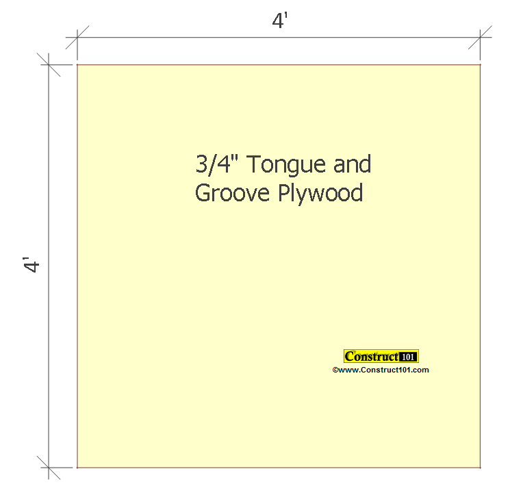 small shed plans 4'x4' gable floor deck