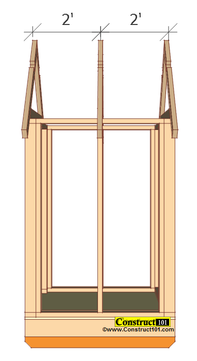 small shed plans 4'x4' gable shed install roof truss