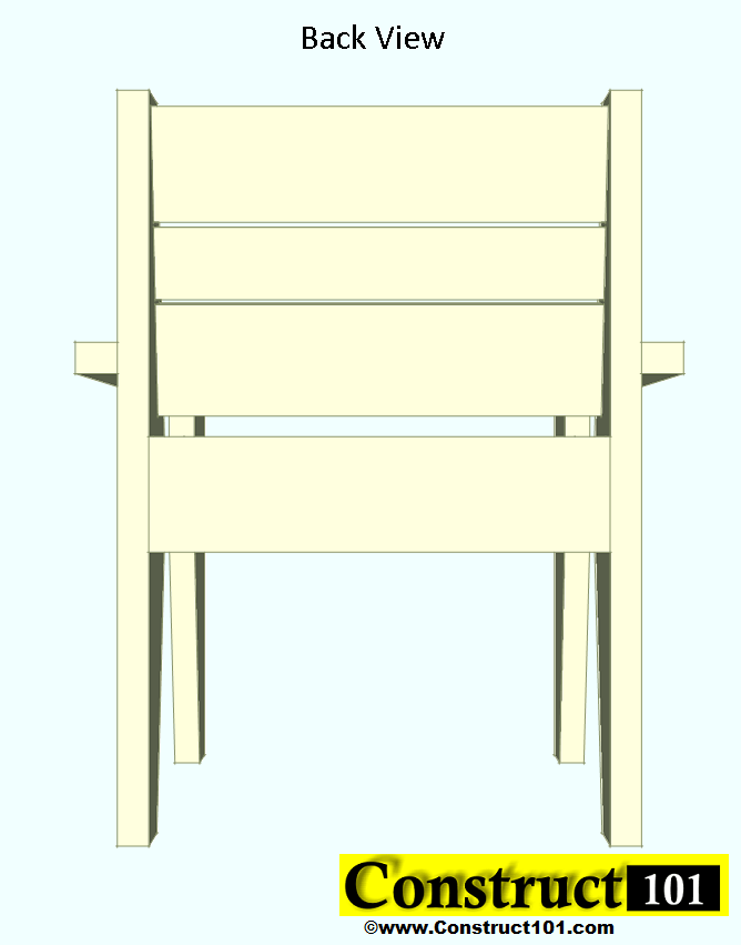 outdoor chair plans back view