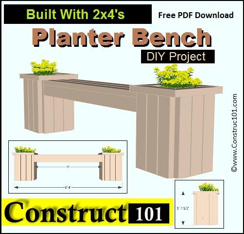 Outdoor Garden Bench Plans (Free) - Construct101