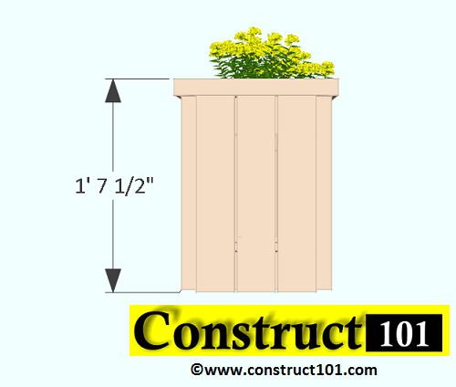 2x4 planter bench plans side view
