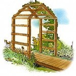 triangular free arbor plans