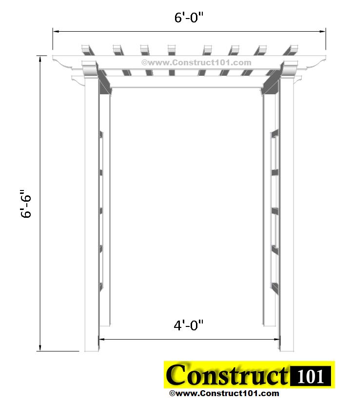 arbor plans front view