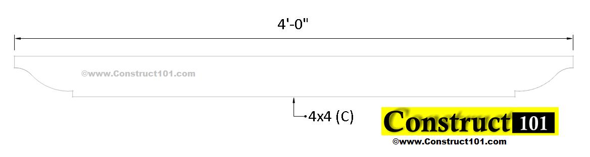 arbor plans top beam (C)