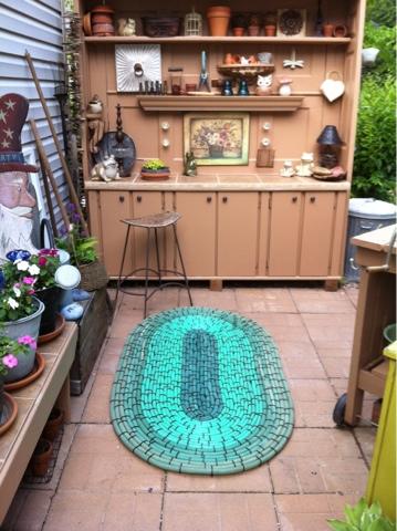 garden hose rug project