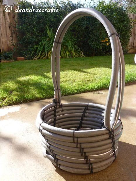 recycled garden hose basket