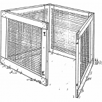wood and wire mesh compost bin plans