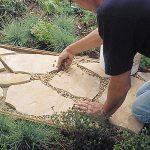 DIY flagstone pathway