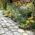 DIY paver pathway