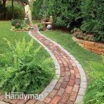 build a brick pathway