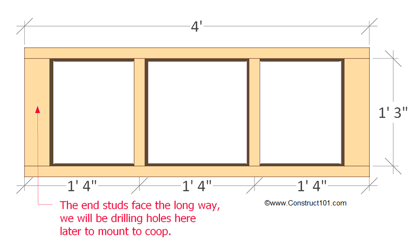 chicken coop nest box plans front frame