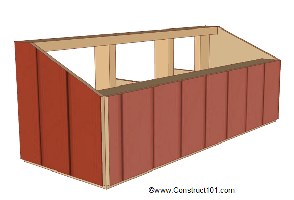 chicken coop nest box plans back siding