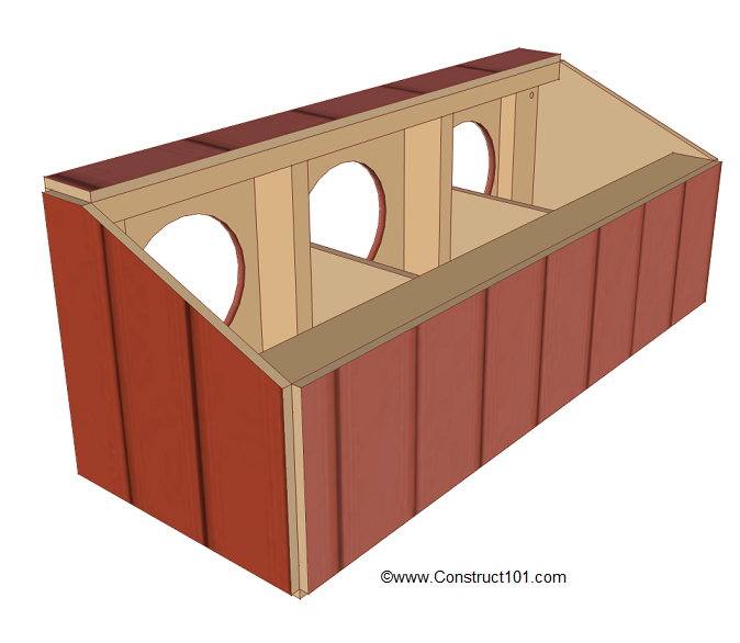 chicken coop nest box plans top siding