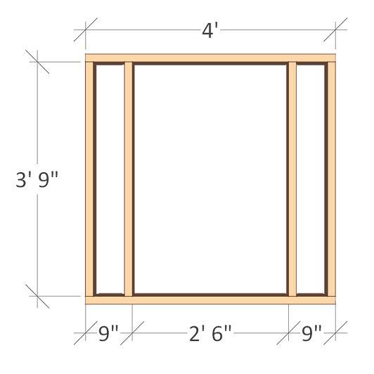 chicken coop front wall frame