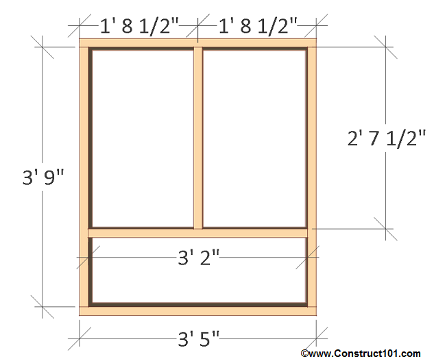 chicken coop plans design 1 left wall frame