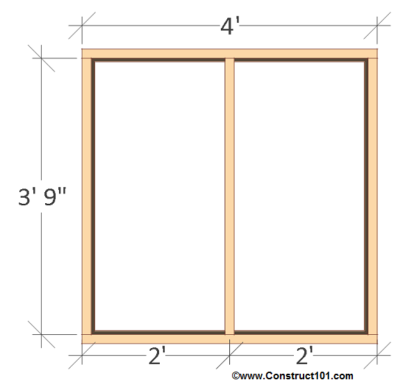 chicken coop plans design 1 back wall frame