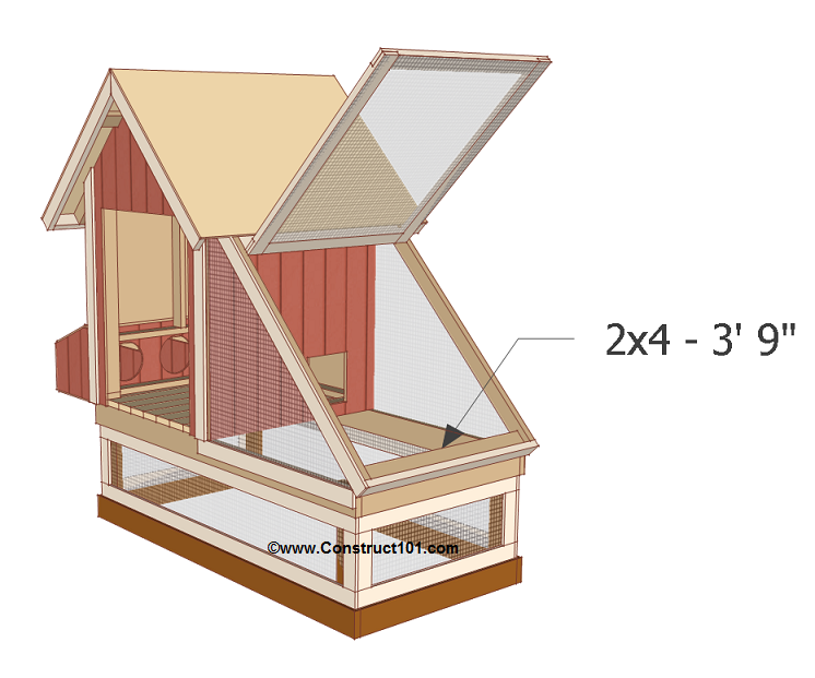 chicken coop plans design 1 door stop