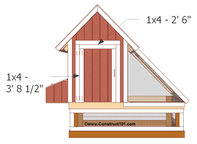 chicken coop plans design 1 front door trim