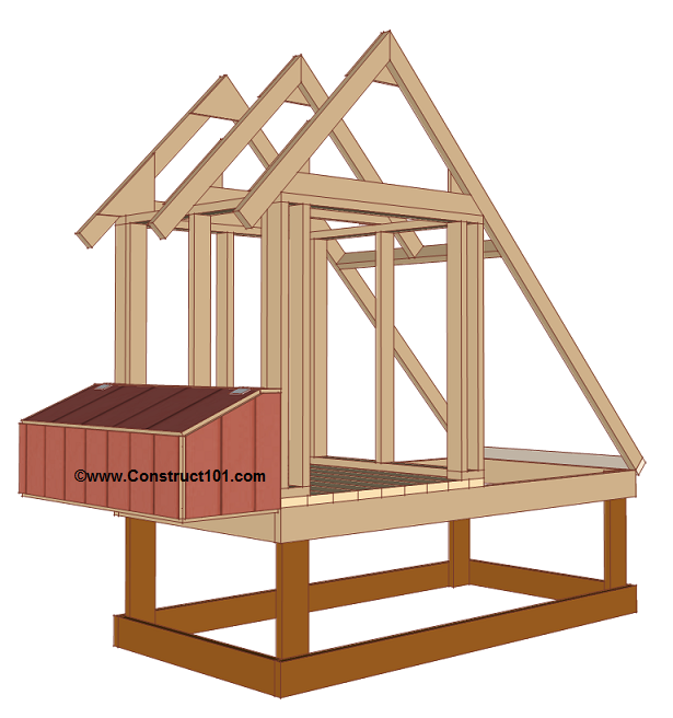 chicken coop plans design 1 nest box