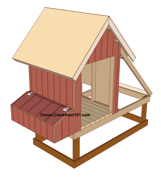 chicken coop plans design 1 roof deck