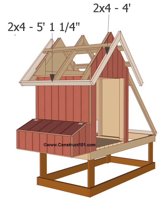 chicken coop plans design 1 roof trim