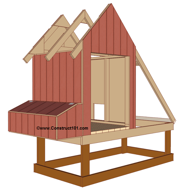 chicken coop plans design 1 siding