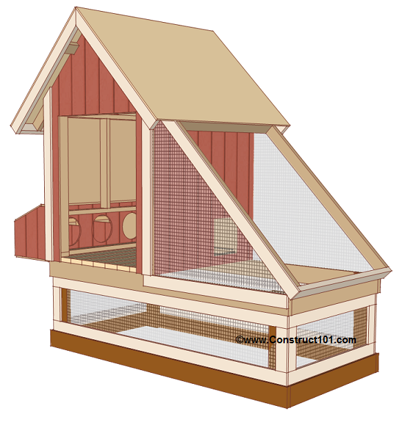 chicken coop plans design 1 trim