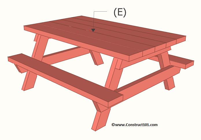 childrens picnic table plans part e