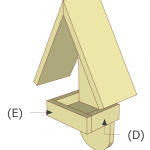 simple bird feeder part e and d