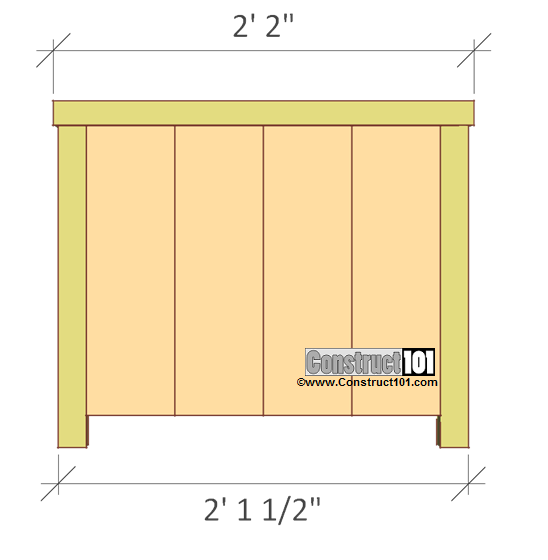planter box plans overview front and back