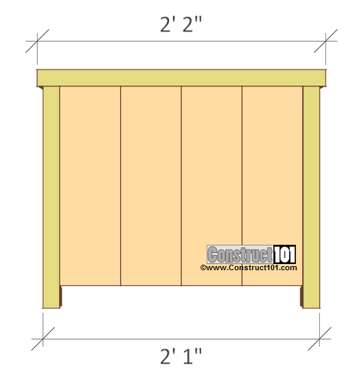 planter box plans left and right view