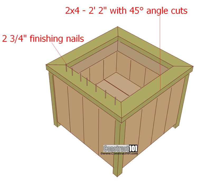 planter box plans top trim