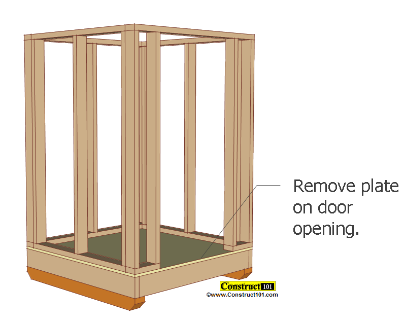 small shed plans 4'x4' gable shed door opening