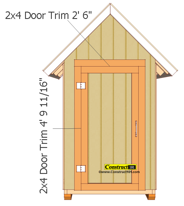 small shed plans 4'x4' gable shed door