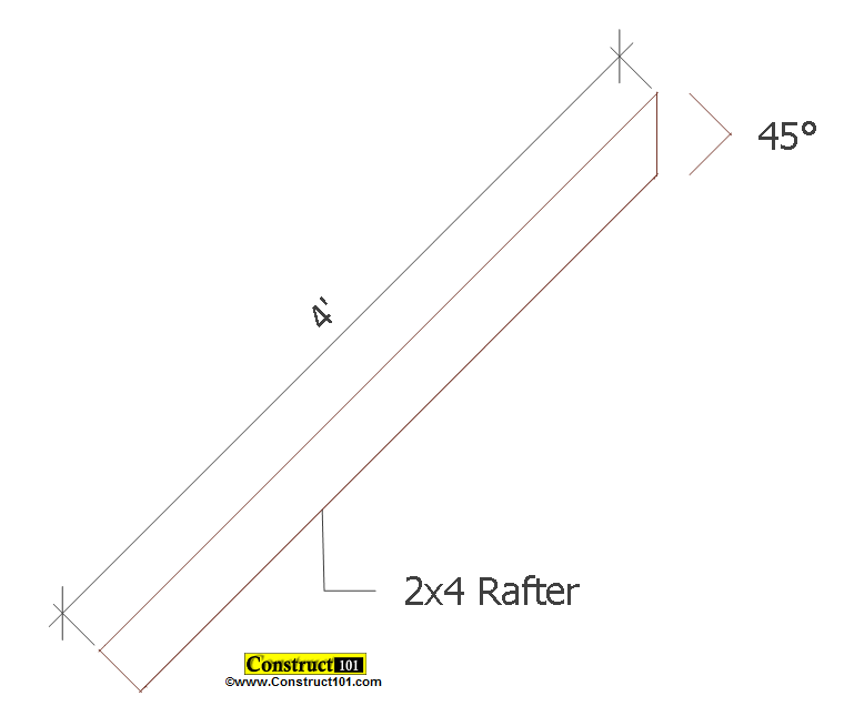 small shed plans 4'x4' gable shed roof deck rafter
