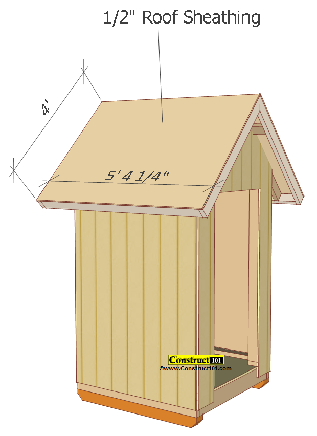 small shed plans 4'x4' gable shed roof deck plywood