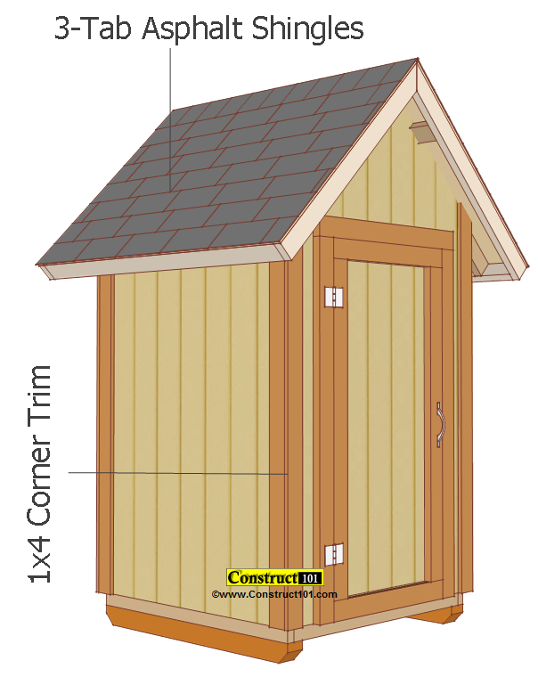 Small Garden Shed Plans 4 39 X4 39 Gable Shed Construct101