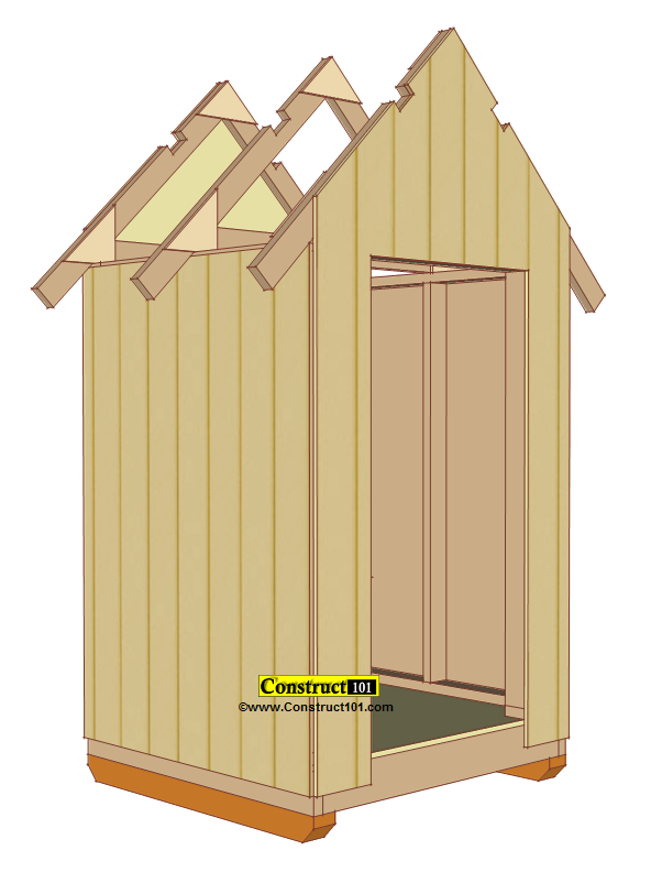 small shed plans 4'x4' gable shed shed siding